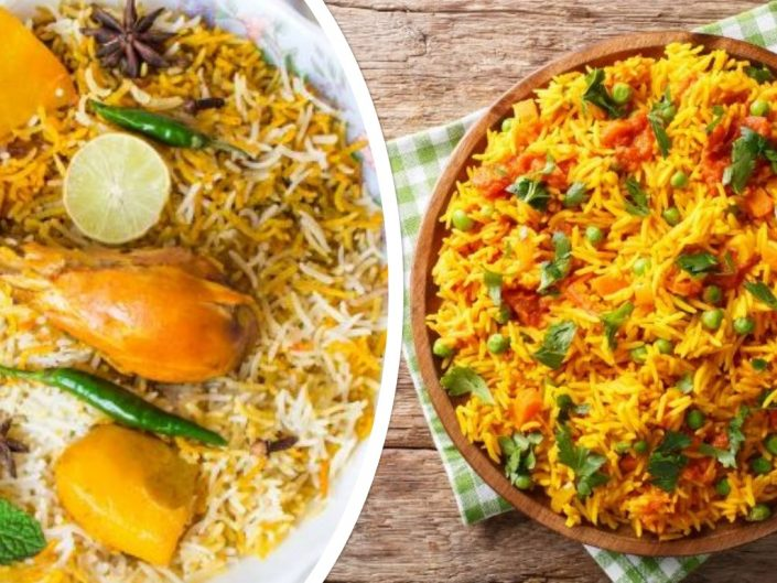 difference between pulao and biryani