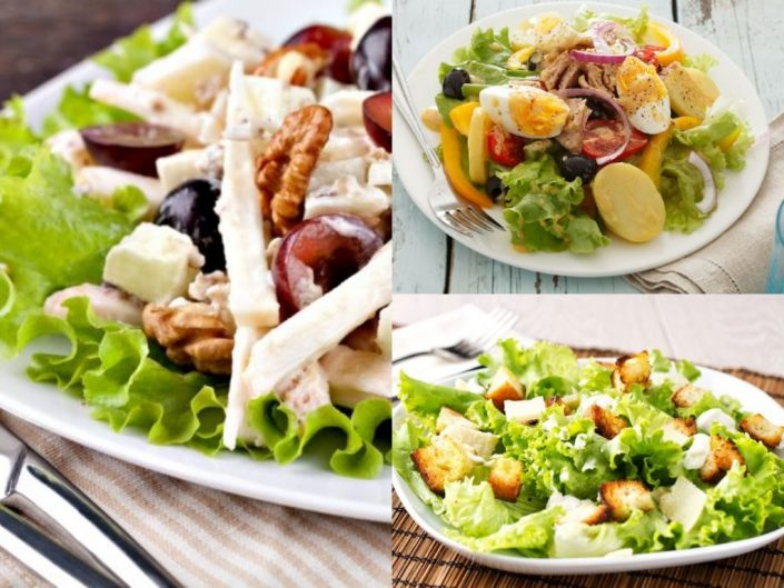 different types of salads