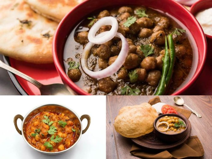 indian dishes with chickpeas