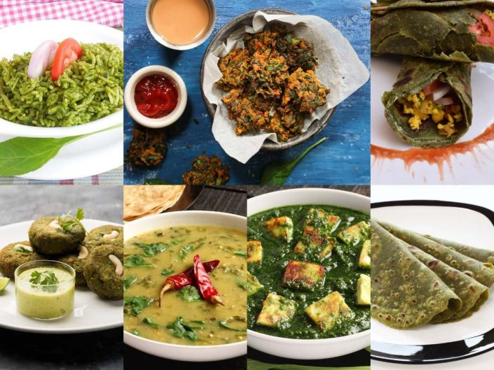indian dishes with spinach